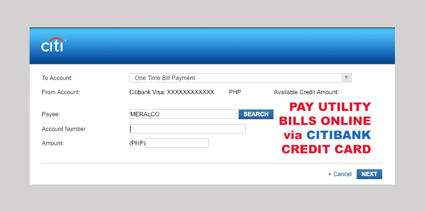 Citibank Credit Card Payment Online >> How To Pay Utility Bills Online Using Citibank Credit Card Investmnl
